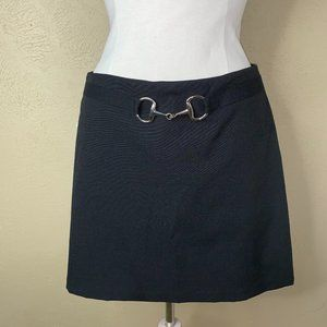 Exact Change Pencil Belted Skirt Black Size 11